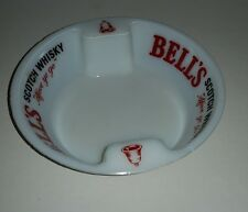 "BELL'S Scotch Whisky ashtray ""Afore Ye Go"" white with red & black lettering"