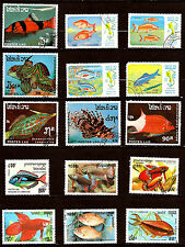 CAMBODGE & LAOS Poissons d'aquarium et mer  28m 417