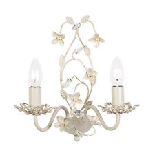 Endon Lullaby 2lt wall chandelier light 60W Cream gold paint pearl acrylic