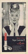 PUBLICITE ADVERTISING 094 1963 REVLON rouge à lèvres Super Lustrus II