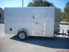 6x12 Enclosed Trailer Cargo V-Nose Utility Motorcycle Lawn 10 Landcape Ramp 14