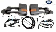 14-17 Silverado Sierra Black Camper Trailer Tow Mirrors Package With Harnesses