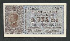 Italy Lire 1 FDS ass/gem UNC VITTORIO EMANUELE Decr.21-09-1914 Rara !!!