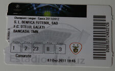 Ticket for collectors CL Benfica Lisboa Otelul Galati 2011 Portugal Romania