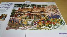 CROSS STITCH CHART COUNTRY COTTAGE CHART floral scène jardin maison