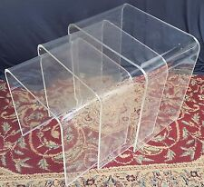 FREE SHIPPING! Set of 3 Lucite Stacking Nesting Tables PANTON EAMES ERA acrylic