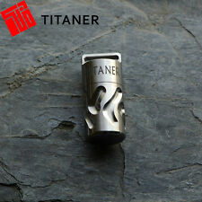 Titaner Titanium Waterproof Survival Storage EDC Capsule Tablet Cash CR123A Box