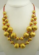 Francesca Visconti Double Row Bead Adjustable Necklace (QVC sold out #J35121)