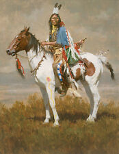 Howard Terpning SPIRIT OF THE PLAINS, Native American, giclee canvas #14/150