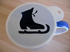 Laser cut ice skating boot design coffee and craft stencil