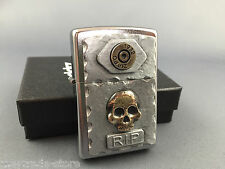 ZIPPO R.I.P. Vintage Skulls lighter emblem rare and awesome collectible