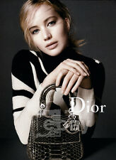 Jennifer Lawrence 2-pg clipping Oct 2015 ad for Dior bags
