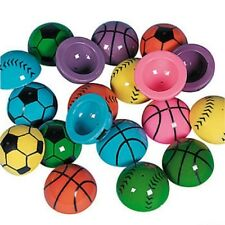 24 PIECE VINYL SPORTS BALL POPPERS PARTY FAVORS BIRTHDAY LEARNING FUN TOY GAME