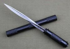 """NEW """"SWAT"""" """"SERRATED THREE BLADE"""" SURVIVAL RESCUE FIGHTING HUNTING BOWIE KNIFE"""