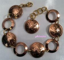 1981 CANADA 1 CENT PENNY BRACELET W/ COPPER RINGS 36th BIRTHDAY ANNIVERSARY GIFT