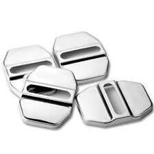 4Pc Auto Car SUV Decorative Accessory Stainless Steel Door Lock Protective Cover