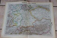 Ancienne carte Atlas universel Géographie 1919 N°31 Allemagne du Sud Autriche