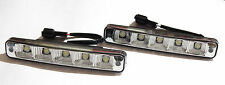 2 PCS X 5 CREE LED Car DRL Universal Daytime Running Light 6000K Super Bright