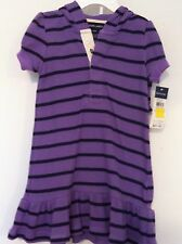 Ralph Lauren Infant Girls Dress w/Bloomers Purple/Navy Stripe Ruffle 24M NWT