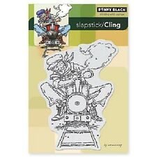 PENNY BLACK RUBBER STAMPS SLAPSTICK CLING ENGINEER NEW STAMP 2013