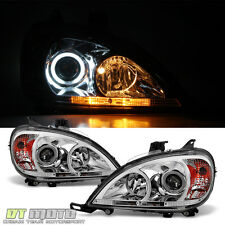 1998-2005 Mercedes Benz W163 ML-Class CCFL Halo Projector Headlights Left+Right
