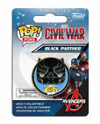 MARVEL COMICS POP! HEROES CAPTAIN AMERICA CIVIL WAR BLACK PANTHER PIN BADGE
