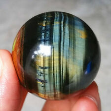 HOT78.8G 38MM Natural Tiger eye Crystal Sphere Ball YKJ29