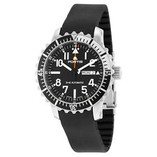 Fortis Aquatis Marinemaster Automatic Black Dial Black Rubber Mens Watch