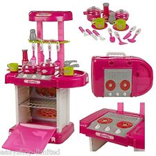 29 Pc Kitchen Cooking Children's Play Set Toy w/ Light & Sound Kids Girls Pink