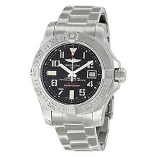 Breitling Avenger II Seawolf Black Dial Stainless Steel Automatic Mens Watch