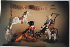 Hantel Victorian Miniatures Postcard Collection Cast Pewter Hand Painted Modern