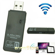 Dual Band 300Mbps Mini Wireless-N USB WIFI Adapter LAN Stick Network Adapter