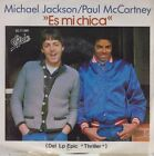 "MICHAEL JACKSON & PAUL MCCARTNEY - Es mi chica Mexican 7"" single 45 Mexico 1982"