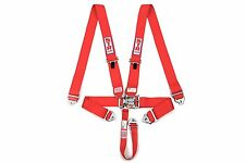 STR 5 Point Racing Safety Harness Seat Belt Nascar Buckle SFI Approved F2 F1 RED