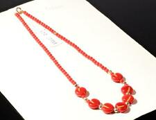 "Vintage 16"" necklace realistic molded figural red apple fruit Czech glass beads"