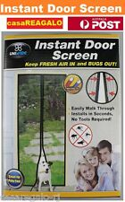 Instant Mesh Screen Door Magnetic Bug Mosquito Fly Pet Patio Net Hands Free