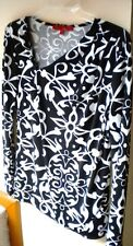 Narcisco Rodriguez Geometric L-Sleeve Poly Blend Black C-Casual Top. Sz M