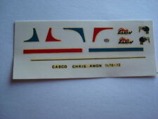 DECALS KIT 1/12 HELMET CASCO CRIS AMON MATRA - FERRARI F1 NEW DECAL