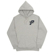 PALACE SKATEBOARDS - ROADRUNNER HOOD GREY HOODED SWEATSHIRT LARGE - DEFECT NEW