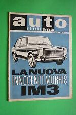 AUTO ITALIANA N.15/1963 INNOCENTI MORRIS IM3 FORD CONSUL CORTINA VERGATO-CERELIO