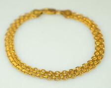 """MILOR GOLD VERMEIL ON STERLING SILVER BISMARK MESH BRACELET 7 5/8"""" LONG ITALY"""
