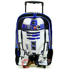 Star Wars R2D2 School Roller Backpack Large Trolley Rolling Bag Boys Luggage