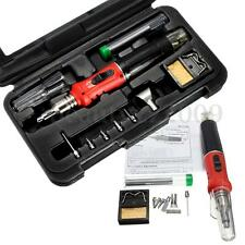 HS-1115K 10in1 Professional Butane Gas Soldering Iron Set Welding Kit Torch
