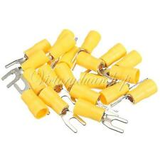 100pcs Insulated Fork Spade Wire Connector Electrical Crimp Terminal 12-10AWG M4
