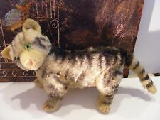 Early STEIFF Large jointed Tabby Kitty CAT w Button GLASS EYES Susi ? XLNT Cond