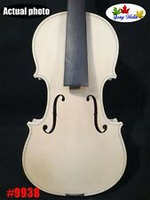 Hand made Solid SONG Brand strad style white unfinishe violin 3/4 ##9938