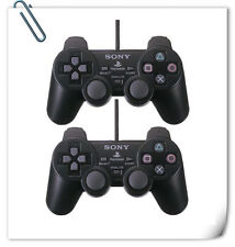 2PCS PS2 Dualshock Controller Wired analog joystick compatible SONY PLAYSTATION