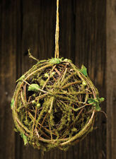 """Moss Twig Ball, 4 1/2"""" with Jute String"""