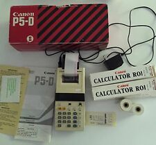Vintage, Canon P5-D, Electronic Calculator with Box, 7 Rolls of Paper, Manuals