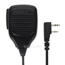 2Pin Handheld PTT Speaker Mic Microphone For BAOFENG Retevis Kenwood TYT WOUXUN